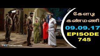 Keladi Kanmani Sun Tv Episode  745 09/09/2017