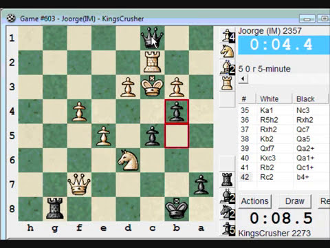 Chess World.net:  Blitz #211 vs IM Joorge (2357) - Nimzovich-Larsen attack: modern variation (A01)