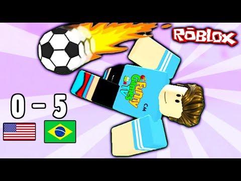 Чемпионат мира по Футболу в Роблокс встречаются сборная США и Бразилии веселый детский летсплей