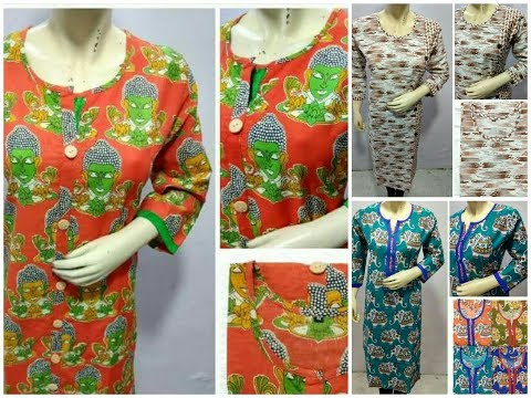 Latest Cotton Printed Churidar,Kurti Designs