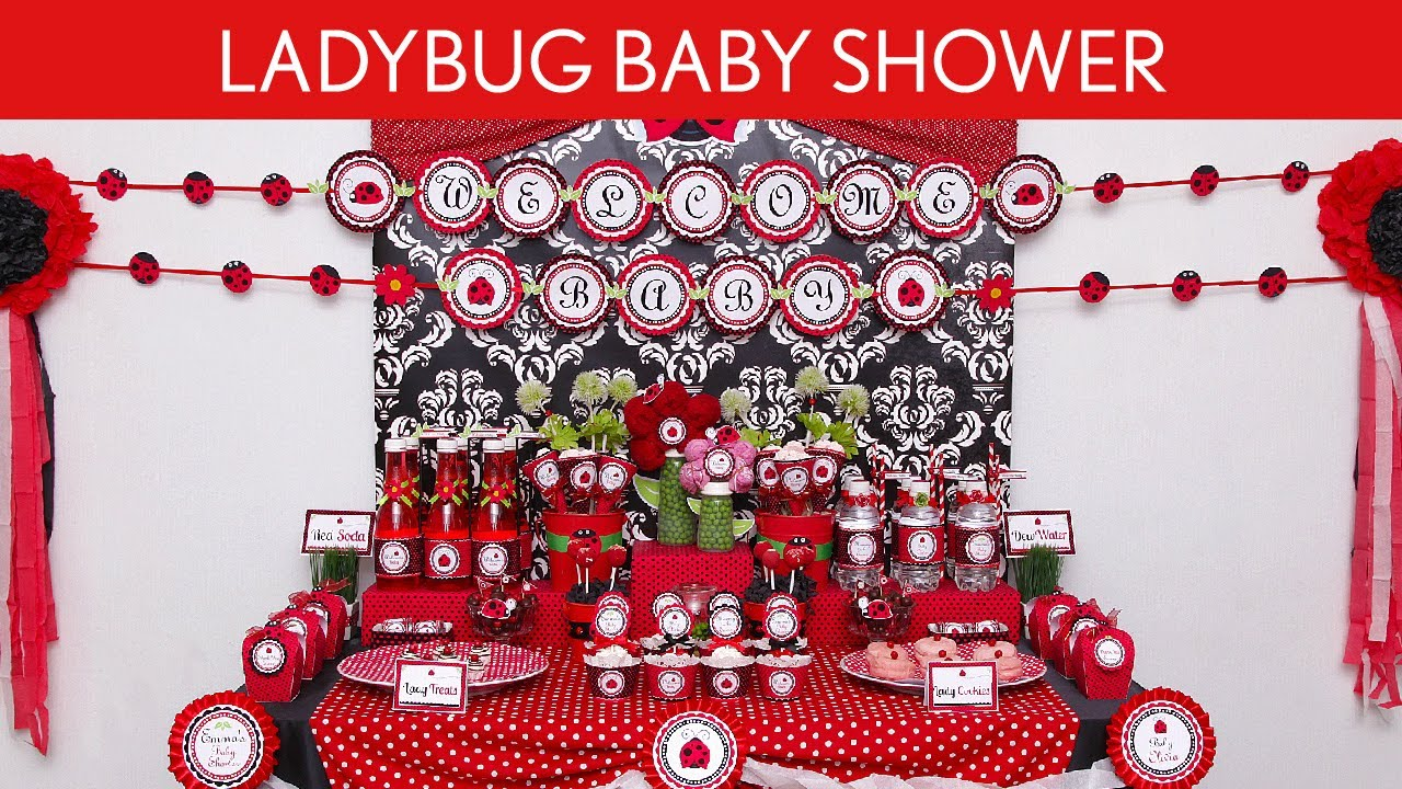 Ladybug Baby Shower Party Ideas S18 YouTube