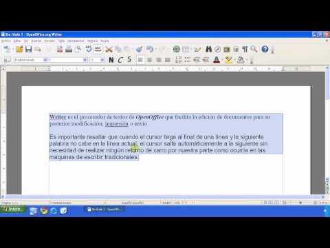 OpenOffice - Writer - Edición y formateo de texto II
