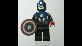 Rare Lego Captain America Minifigure 360° view (Toy Fair 2012 Exclusive) sh028 Only 200 made