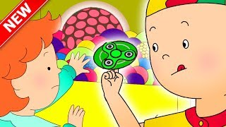 ★NEW★ Caillou plays with FIDGET SPINNER and SLIME | Funny Animated Caillou