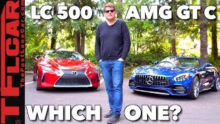 Beauty or Brawn? 2018 Mercedes-AMG GT C vs Lexus LC 500 Mashup Review