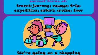 LEARN ENGLISH - similar words - travel/journey/trip/voyage/safari/cruise