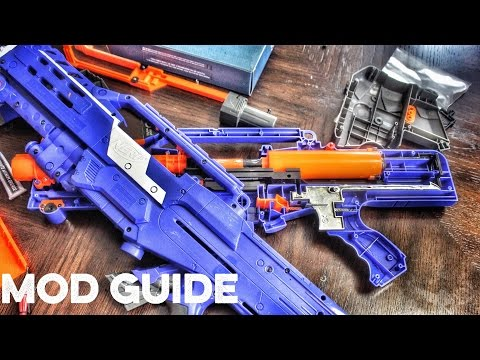 Elite Nerf Longshot CS-6 Mod Guide (Nerf N Strike Elite Longshot CS-6 with Orange Mod Works Kits)