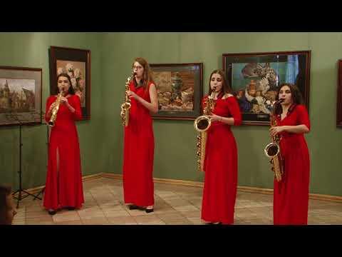 J.S.BACH-Badinerie.  Misteria Saxophone Quartet