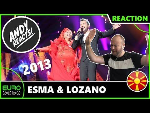 ANDY REACTS! Esma & Lozano - 'Pred Da Se Razdeni' (North Macedonia 2013) EUROVISION REACTION!
