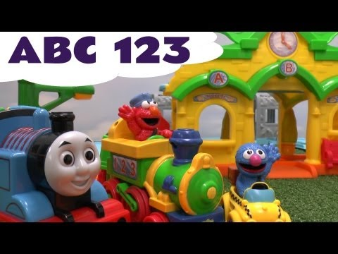 Alphabet Sesame Street ABC 123 Elmo Train meets Thomas The Tank Characters Song Numbers Song Kids
