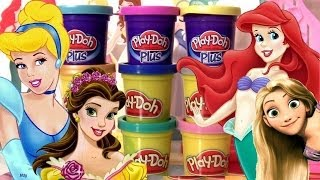 Play Doh Brilhante Princesas Disney Vestidos Salão de Baile Play Doh Sparkle Design a Dress Ballroom