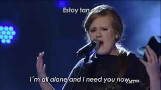 Adele Video - Adele ft Darius Rucker-Need You Now-Inglés y español