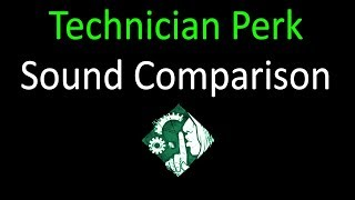 Dead by Daylight - Technician Perk Sound Comparison