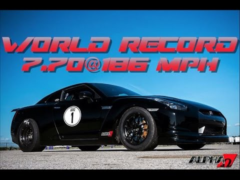 Alpha Omega Resets GT-R  1/4  Mile Record: 7.70@186mph!