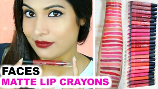 Faces Ultime Pro Lip Crayon | GIVEAWAY & SWATCH & REVIEW