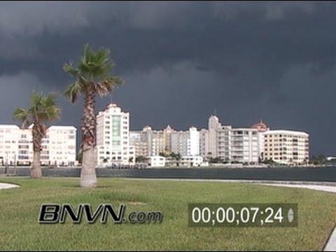 8/23/2005 Sarasota Bay front afternoon rain video