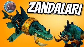 Zandalari Troll Druid shapeshift Gameplay WoW Patch 8.1.5 | World of Warcraft Battle for Azeroth