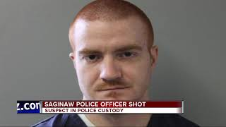 Saginaw Township officer shot in face gives chilling account on police radio
