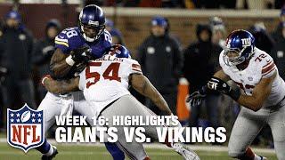 Giants vs. Vikings | Week 16 Highlights | NFL