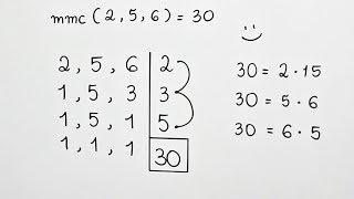 Algoritmo de Cálculo do MMC com 2, 5 e 6