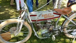 Classic Harley, Indian Flying Merkel Motorcycles On Display At Greenwich Concours 2017