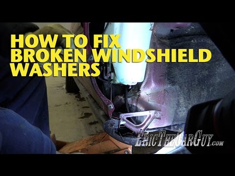 How To Fix Broken Windshield Washers -EricTheCarGuy