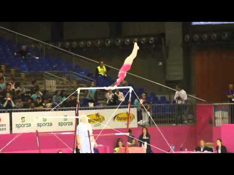 Julie CROCKET BEL, Bars Senior Qualification, European Gymnastics Championships 2012