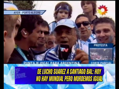 DESPUES DE LA SANCION - SUAREZ VOLVIO A URUGUAY Y PEGA MARCE - 27-06-14