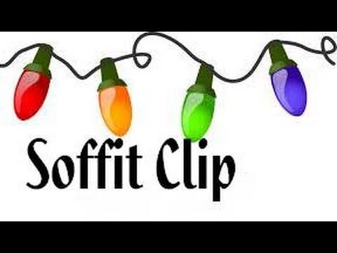 Christmas Light Soffit Clip - Homemade