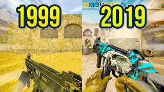 Evolution of the UMP-45 in Counter Strike 1999 - 2019