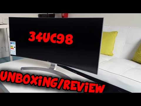 LG 34UC98 - CURVED ULTRAWIDE MONITOR UNBOXING / REVIEW