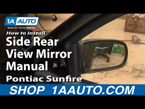 How To Install Replace Side Rear View Mirror Manual Cavalier Sunfire 95-05 1AAuto.com