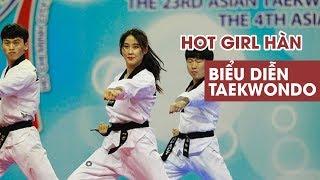 Hot girl Hàn Quốc biểu diễn Taekwondo làm say lòng trai Việt
