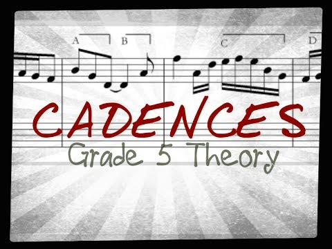 Cadences for Grade 5 Music Theory (ABRSM) explained - Easy!