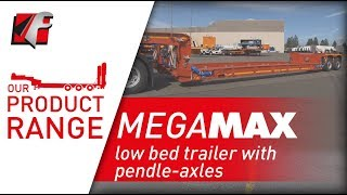 FAYMONVILLE MegaMAX - low bed trailer with pendle-axles