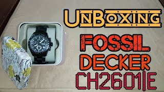 Unboxing Fossil Decker CH2601|E  |  AMIGOS INC.
