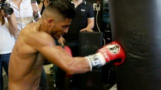 Leo Santa Cruz vs. Abner Mares full video- Complete Mares media workout