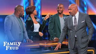 Chris Paul sings the Popeye theme! Wait... | Celebrity Family Feud