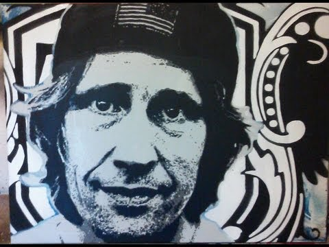 In The Studio - Rodney Mullen Multilayer Stencil Portrait (cutanddestroy)