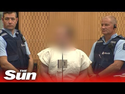 Suspected Christchurch gunman Brenton Tarrant appears in court charged with murder