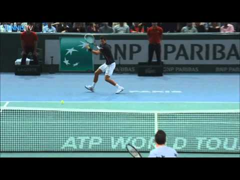 Paris 2014 Final Hot Shot Djokovic