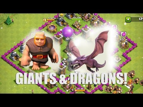 Clash of Clans - Part 12 - Giants and Dragons!