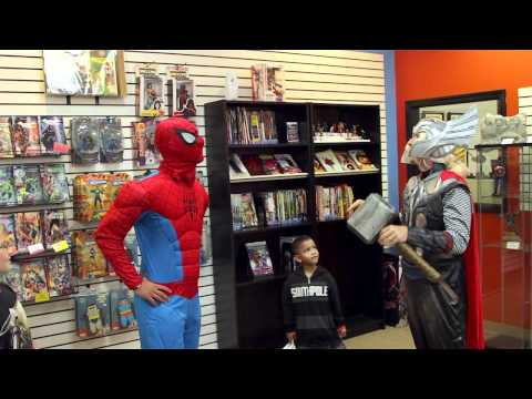 Reverse Flash Mob at Alter Ego Comics