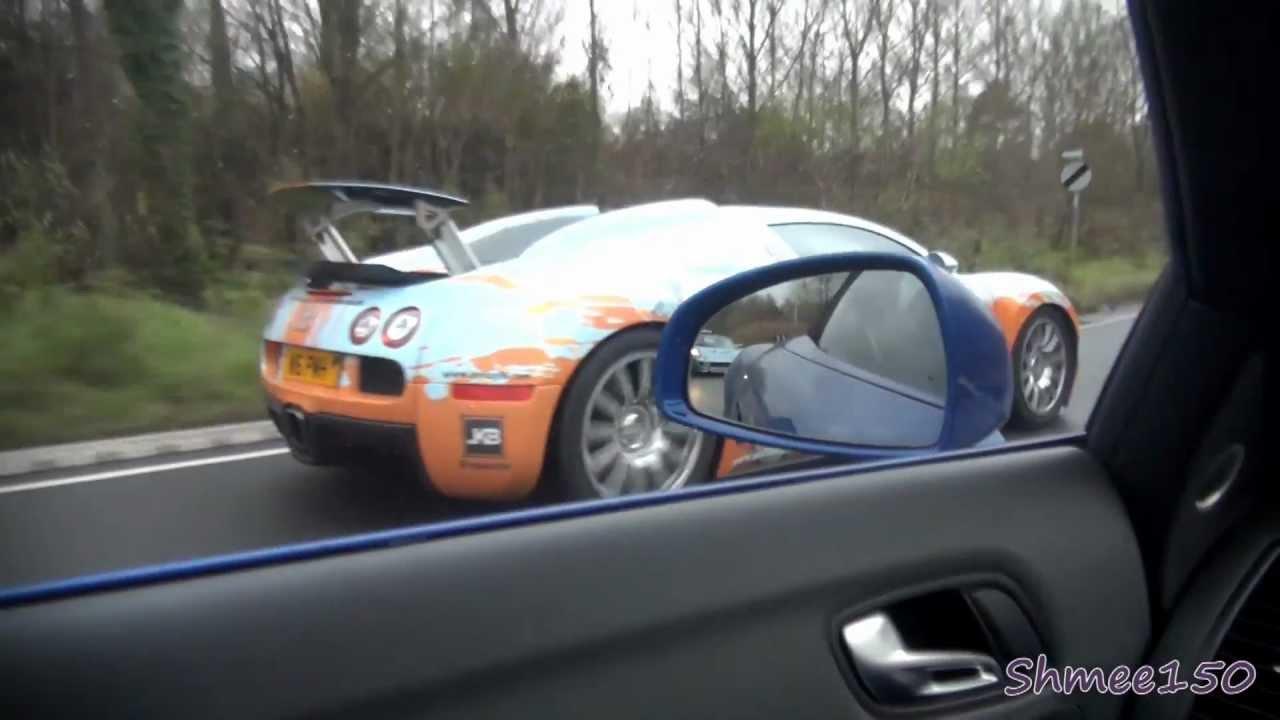 Bugatti Veyron Chase R8 V10 Spyder Left Behind Youtube