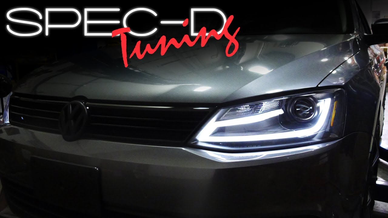 Honda Accord 2015 Led Headlights >> SPECDTUNING INSTALLATION VIDEO: 2011 - 2013 VOLKSWAGEN JETTA PROJECTOR HEADLIGHTS - YouTube