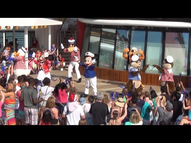Disney Magic Cruise Adventurers Away Party with Captain Mickey, Minnie, Goofy Donald, Chip & Dale