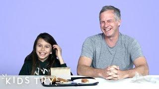 Fletcher Tries His Dad's Dorm Food | Kids Try | HiHo Kids