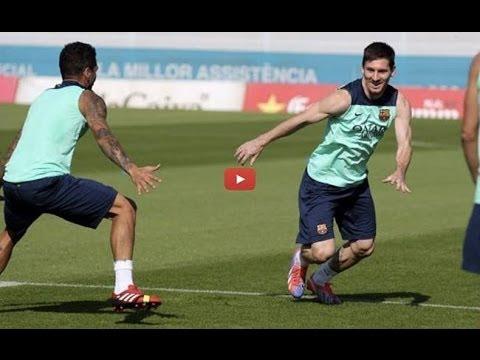 Messi deja en ridículo a Dani Alves