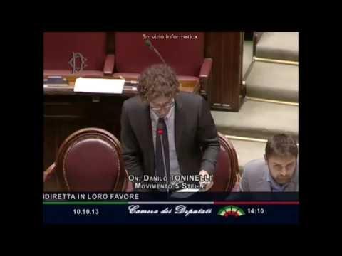10/10/2013 Danilo Toninelli – Norme per la trasparenza, il M5S fissa sanzioni