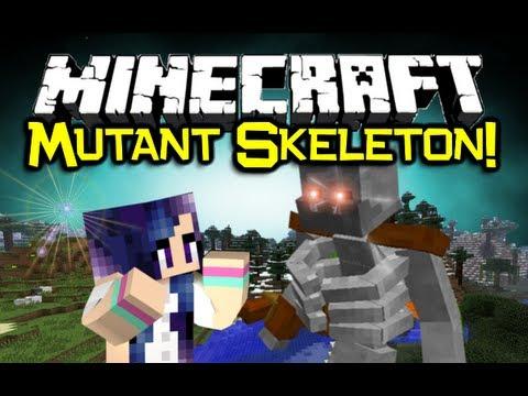 Minecraft MUTANT SKELETON MOD Spotlight! - Part Of Mutant Creatures! (Minecraft